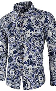 男性用 プリント シャツ ベーシック フラワー / カラーブロック