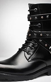 ed719f351abe Herre Fashion Boots Syntetisk Vinter Vintage   Afslappet Støvler Hold Varm  Støvletter Sort   Fest