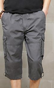 Муж. Армия Тонкие Шорты / Брюки-карго Брюки - Однотонный Черный