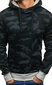 Hombre Básico Delgado Pantalones - camuflaje Estampado Negro / Con Capucha / Manga Larga / Otoño