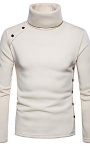 Hombre Básico Pantalones - Un Color Gris Oscuro / Cuello Alto / Manga Larga / Otoño / Invierno