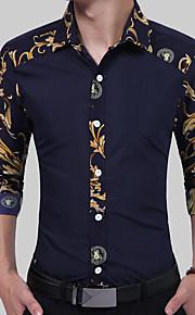 男性用 シャツ ストリートファッション 幾何学模様