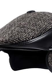 男性用 ベーシック プリント ビーニー帽 / ベレー帽 / ボーラーハット