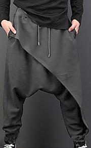 男性用 ベーシック スウェットパンツ パンツ - ソリッド ハイウエスト ブラック