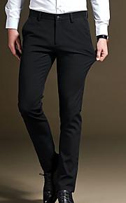 男性用 ベーシック プラスサイズ スーツ パンツ - ソリッド ブルー