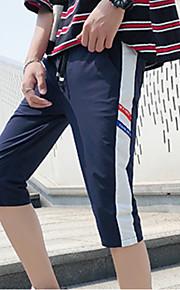 男性用 アジア人サイズ ショーツ パンツ - カラーブロック ネイビーブルー