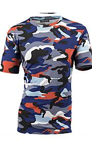 Majica s rukavima Muškarci - Osnovni Dnevno Pamuk kamuflaža Okrugli izrez Plava XL / Kratkih rukava