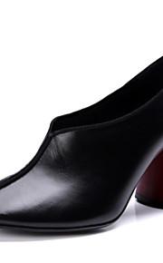 Dámské Nappa Leather Podzim Sladký   Minimalismus Podpatky Kačenka Palec do  špičky Černá   Barevné bloky c56a82eb4e