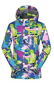 High Experience 女性用 スキージャケット 防水 保温 耐久性 スキー スノーボード ウィンタースポーツ POLY ポリスター 絹布 トップス スキーウェア / 冬 / UV耐性