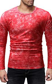 Majica s rukavima Muškarci Dnevno kamuflaža Okrugli izrez Crn L / Dugih rukava