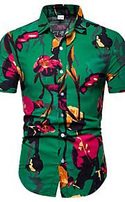 男性用 プリント シャツ ビジネス / ストリートファッション カラーブロック