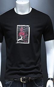 男性用 Tシャツ ラウンドネック スリム ソリッド