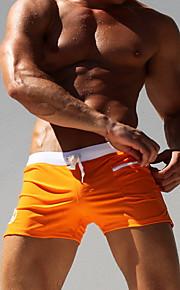 Ανδρικά Μέγεθος EU / US Ρουμπίνι Βυσσινί Μπλε Απαλό Boy Leg Σλιπ Μαγιό - Μονόχρωμο L XL XXL Ρουμπίνι