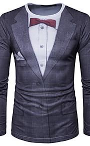 男性用 プリント Tシャツ チェック / グラフィック