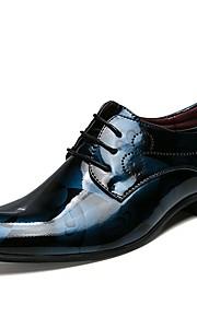 Miesten Oxfords-painatus Kiiltonahka Kevät kesä Liiketoiminta / Klassinen Oxford-kengät Harmaa / Punainen / Sininen / Häät / Juhlat