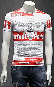 メンズTシャツ - ラウンドネックレター