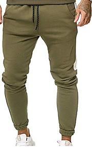 男性用 ストリートファッション チノパン パンツ - ソリッド ブラック