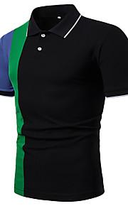 男性用 パッチワーク Polo カラーブロック
