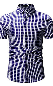 男性用 シャツ ベーシック カラーブロック / 千鳥格子