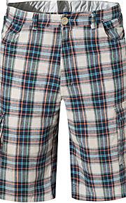 男性用 イエロー Light Blue カーキ色 スイミングトランクス ボトムス スイムウェア - チェック XL XXL XXXL イエロー