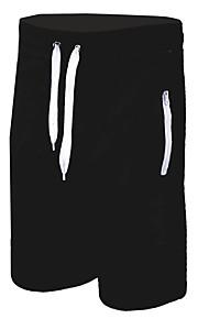 男性用 ベーシック / ストリートファッション チノパン / スウェットパンツ パンツ - ソリッド ブラック