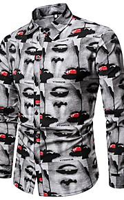 男性用 プリント シャツ ストリートファッション グラフィック