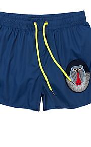 男性用 EU / USサイズ グレー Light Blue ネービーブルー スイミングトランクス ボトムス スイムウェア - 動物 L XL XXL グレー