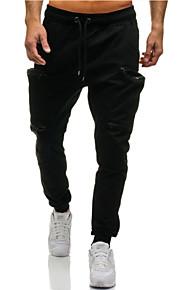 Hombre Básico Chinos Pantalones - Patrón Gris