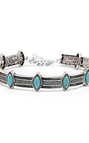 Dámské Modrá Geometrické Náhrdelník Moderní Cool Stříbrná 30 cm Náhrdelníky Šperky 1ks Pro Denní