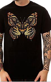 Ανδρικά T-shirt Κινούμενα σχέδια Μαύρο L