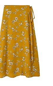 dámské midi a line sukně - galaxie / květinové / polka dot