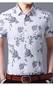 Ανδρικά T-shirt Φλοράλ Θαλασσί XXXXL