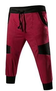 Hombre Deportivo Chinos Pantalones - Un Color Gris Oscuro