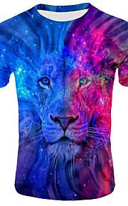 Ανδρικά T-shirt Ζώο Βυσσινί XXL