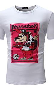 T-skjorte Herre - Tegneserie Hvit XL