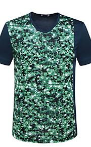 Ανδρικά T-shirt Γεωμετρικό Βαθυγάλαζο L