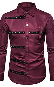Camicia Per uomo Monocolore Nero XL