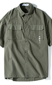 Hombre Camiseta Gráfico Verde Trébol L