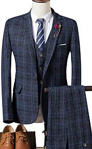 Hombre trajes Cuello Camisero Poliéster Azul Marino / Caqui / Gris Claro XL / XXL / XXXL