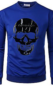 Hombre Jacquard Camiseta Un Color / Gráfico / Animal Azul Piscina XL