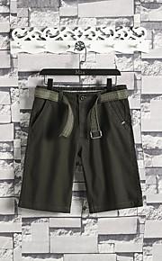 Hombre Deportivo Chinos / Shorts Pantalones - Un Color Gris