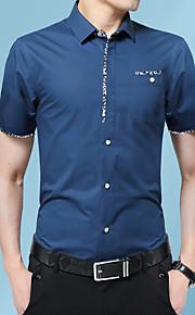 Heren Overhemd Grafisch Wijn XXXL