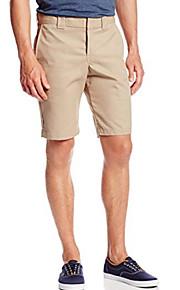Hombre Básico Shorts Pantalones - Un Color Beige