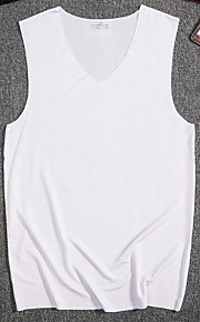 Ανδρικά Αμάνικη Μπλούζα Μονόχρωμο Βαθυγάλαζο XL