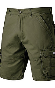 Hombre Deportivo Shorts Pantalones - Un Color Azul Marino