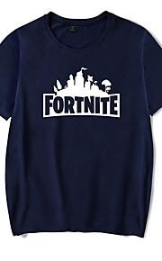 Hombre Camiseta Letra Negro XXL