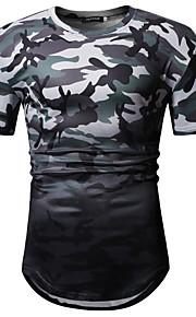 T-skjorte Herre - Kamuflasje Grønn L