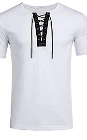 Ανδρικά T-shirt Μονόχρωμο Λευκό L