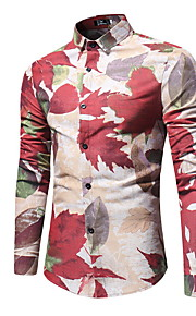 Муж. Рубашка Цветочный принт Темно синий XL