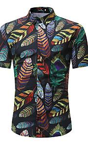 Муж. С принтом Рубашка Геометрический принт Черный XL